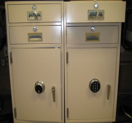 On site electrostatic painting of file cabinets
